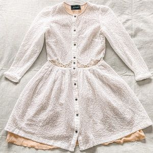 The Kooples Button up lace layered dress